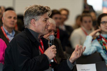 Nico Macdonald speaking