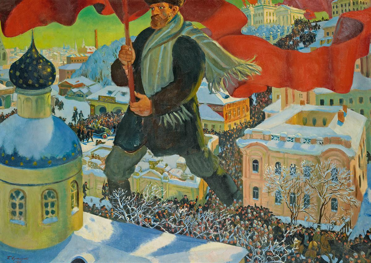 Boris Kustodiev, The Bolshevik, 1920