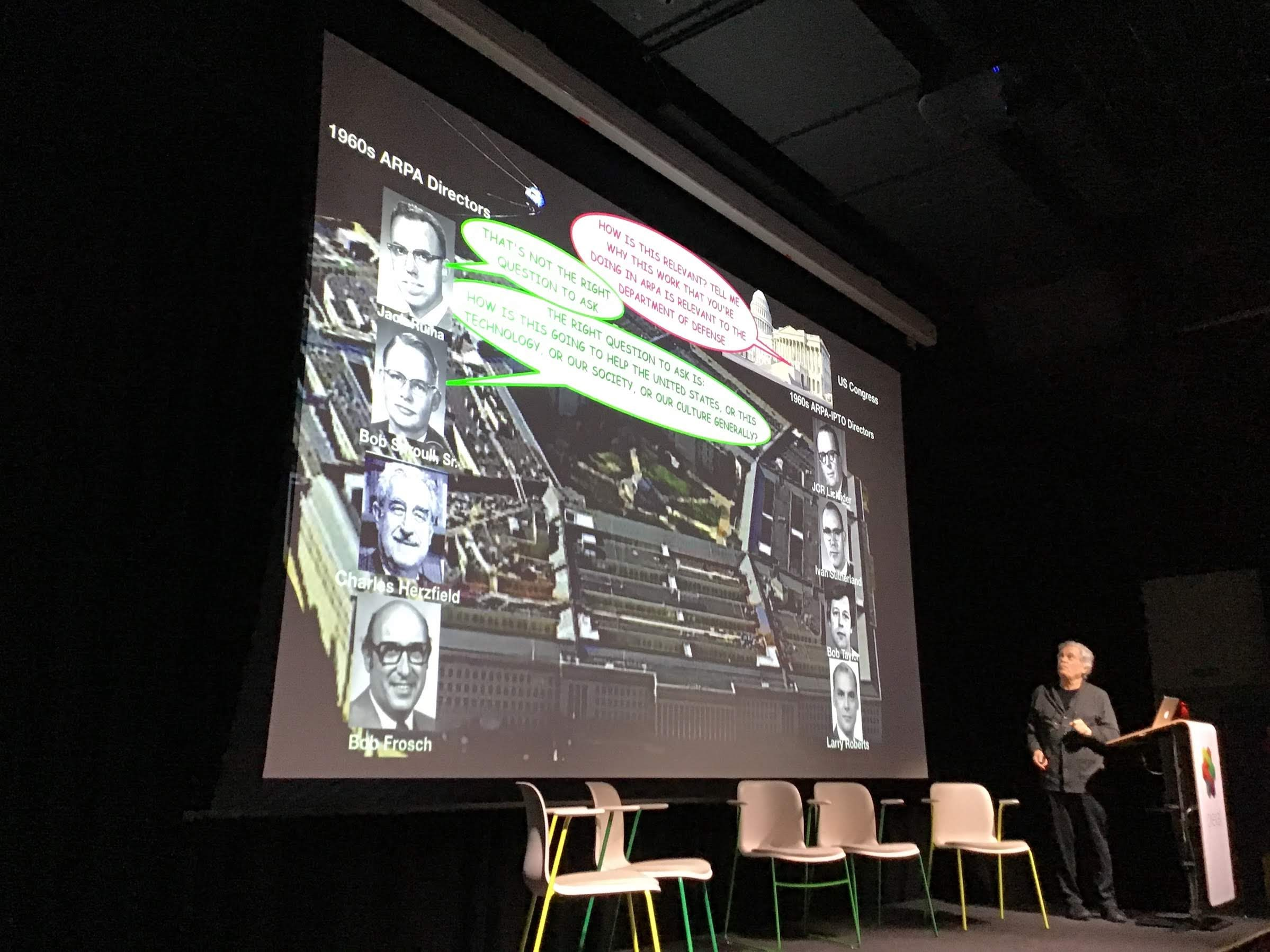 Alan Kay at 50 Years of the Internet event at Plexal, London